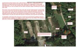 2018 Satellite image, low road drainage