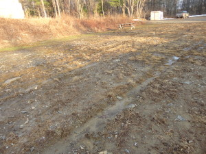 Apr 11, 2015, driving on range caused deep ruts. 1