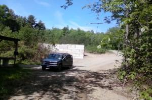 May 28 2016, behind 100 yard shooting benches, looking up hill, 2